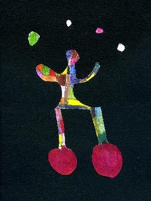 Le jongleur acrobate - Feutre et collage - Adèle Prévot